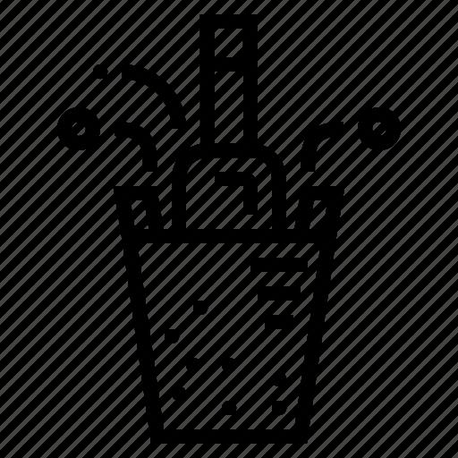 alcohol, alcoholic, bottle, celebration, champagne, drinks, party icon