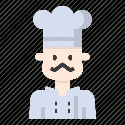 avatar, baker, chef, cooker, restaurant, user icon