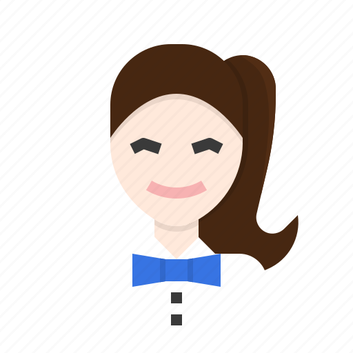 avatar, officer, restaurant, serve, service, waitress icon