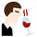 drinks, manners, smell, specialist, taste, wine, winery icon