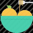 food, fork, pasta, plate, restaurant, spaghetti