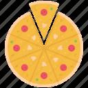 cucumber, food, mushroom, pizza, restaurant, salami