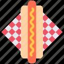 dog, food, hot, napkin, restaurant, sausage