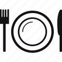 fork, knife, plate, utensils icon