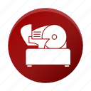 appliance, meat, restaurant equipment, slicer, tool icon