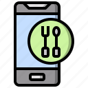 app, away, food, mobile, order, restaurant, take icon