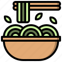 bowl, chinese, food, sticks icon