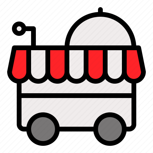 cart, food cart, food trolley, restaurant, serve icon
