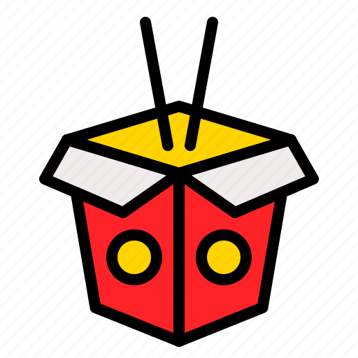 asian food, box, chinese, food, restaurant icon