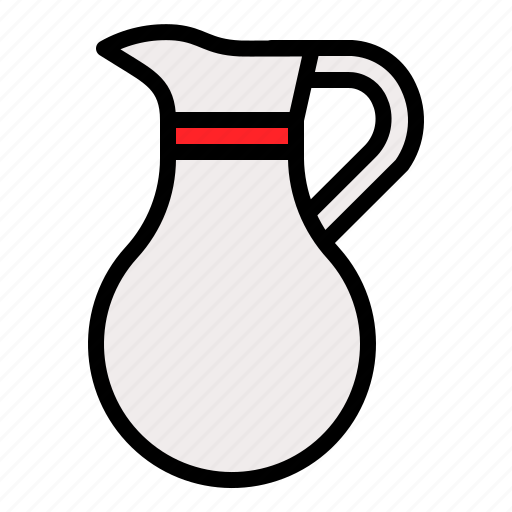 drinkware, jug, milk jug, restaurant, tableware icon