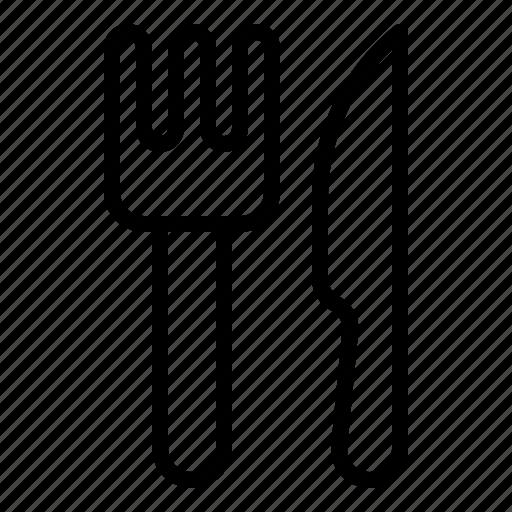 cutlery, fork, kitchenware, knife, restaurant, utensil icon