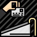 card, credit, debit, hand, machine, payment, service