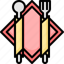 eating, food, fork, plate, restaurant, spoon icon