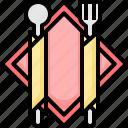 eating, food, fork, plate, restaurant, spoon