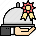 cook, food, menu, plate, recommend, serve, service icon
