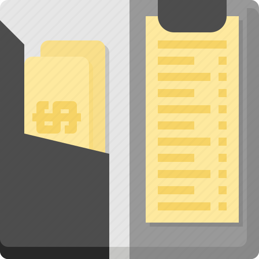 bank, bill, cash, check, dollar, note, payment icon