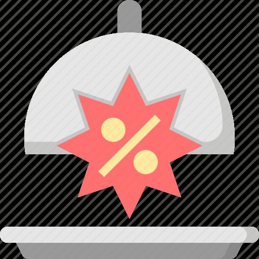 discount, food, price, promotion, restaurant, sale, shop icon