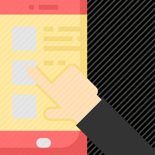 Delivery, food, list, mobile, online, order, service icon - Download on Iconfinder