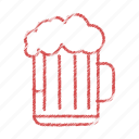 beer, chilled, drink icon
