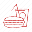 burger., fast, food, meal icon