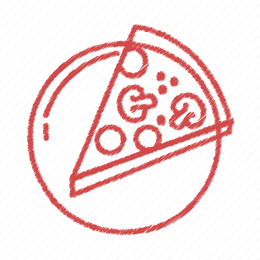 food, meal, piece., pizza, slice. icon