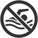 stop, swimming, no, no entry, swim, restriction