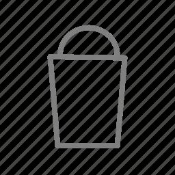 bag, basket, bathroom, restroom, rubbish, toilet, wc icon