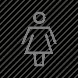 bathroom, ladies, restroom, toilet, wc icon