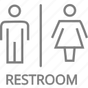 bathroom, laides, man, restroom, toilet, wc icon