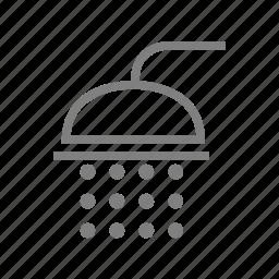 bath, bathroom, clean, restroom, shower, toilet, water, wc icon