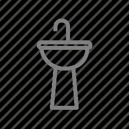 bathroom, clean, restroom, tap, toilet, wash, water icon