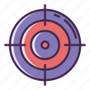 aim, goal, goals, mission, objective, target, vision icon