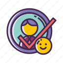 checked, hired, selected, successful icon