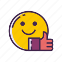 hobbies, hobby, interests, smile, thumbs up icon