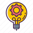 creative, creativity, idea, lightbulb icon