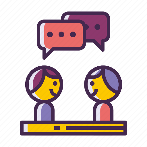 chat, discussion, interview, meeting, talking icon