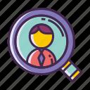 headhunter, headhunting, job, jobseeker, seeker icon