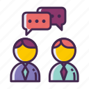 chat, discussion, interview, meeting, negotiation icon