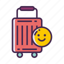 luggage, suitcase, travel, willing to travel icon