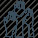 hand, participation, volunteer, volunteering icon