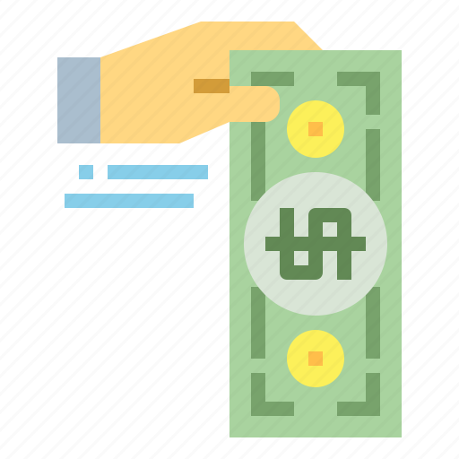 cash, hand, money, payment icon