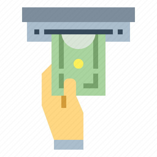 cash, electronics, payment, withdraw icon