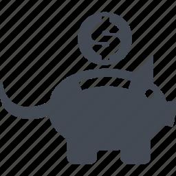 accumulation of funds, money, money box, retirement savings icon