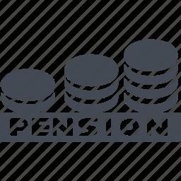 cash, pension accumulation, retirement savings, saving icon