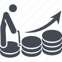 man, pensioner, retirement savings, savings growth icon