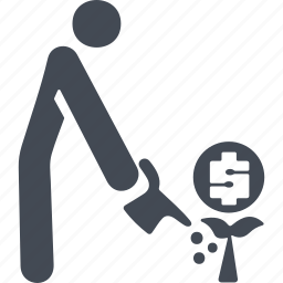 coin, hat, human, retirement savings icon