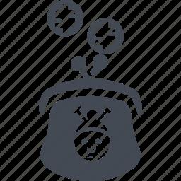 cash, money, purse, retirement savings icon