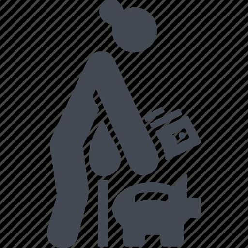 money box, moneybox, retiree, retirement savings icon