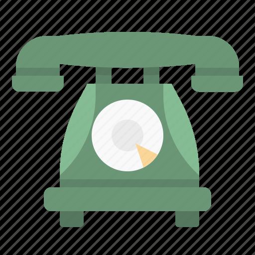 call, phone, retro, telephone, vintage icon