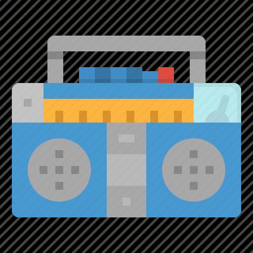 multimedia, music, radio, standing, transistor icon